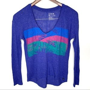Hurley Long Sleeve V-Neck Thermal High-Low Top